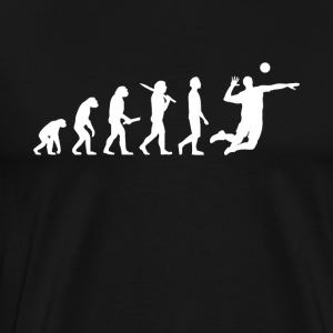 Volleybollspelare Evolution - Premium-T-shirt herr