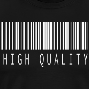 HIGH QUALITY BARCODE WHITE - Männer Premium T-Shirt