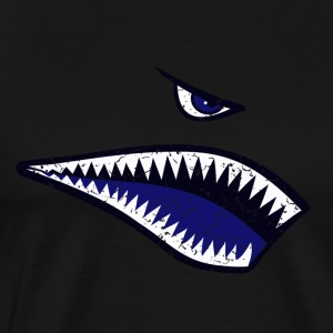 Shark bit, nose type, blue - Men's Premium T-Shirt