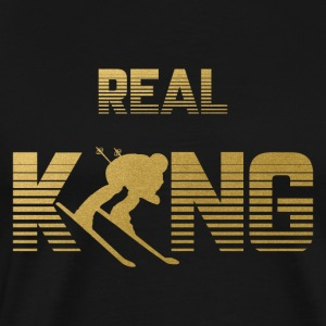 Real King - Skiing Skiing Skiing Skiing - Men's Premium T-Shirt