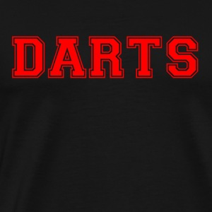 DARTS - lettering in red - Men's Premium T-Shirt