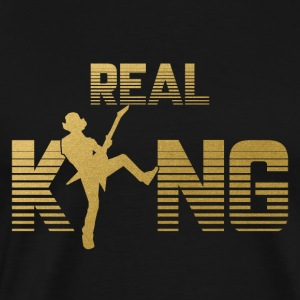 Real King - gitarist guitar rock metal muziek - Mannen Premium T-shirt