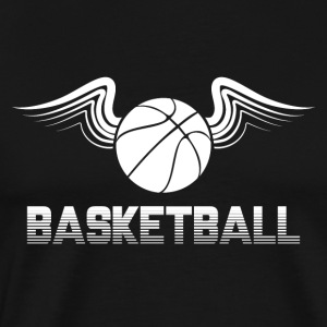 Basket Wings Ball Sports boll basket dunk - Premium-T-shirt herr