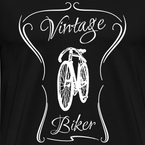 vintage biker bike old wire gift retro - Men's Premium T-Shirt