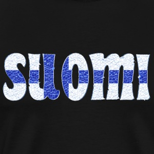 Finnish flag crystal - Männer Premium T-Shirt