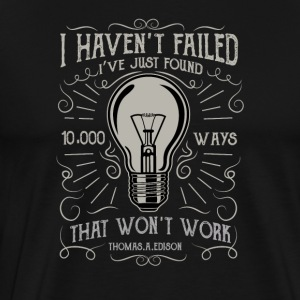 Thomas Edison's genial saying. - Men's Premium T-Shirt
