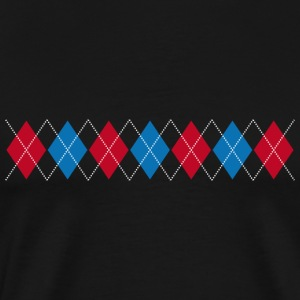 Norwegian pattern rhombus check Christmas Christmas - Men's Premium T-Shirt