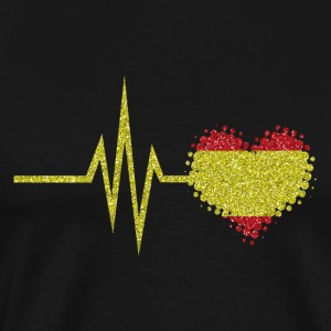My heart beats for Spain - heart spanish - Men's Premium T-Shirt