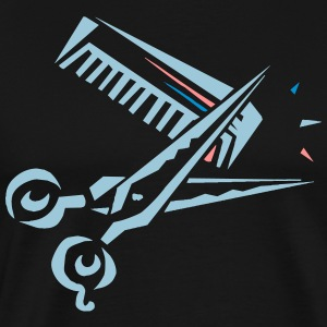 Comb and scissors - Men's Premium T-Shirt