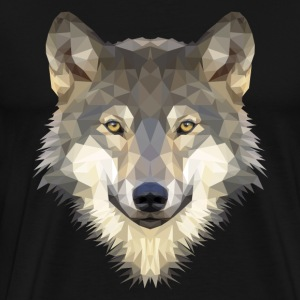 Polygon Wolf - Men's Premium T-Shirt