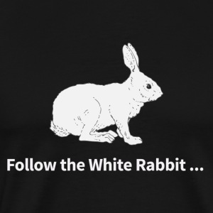matrix follow the white rabbit - Men's Premium T-Shirt