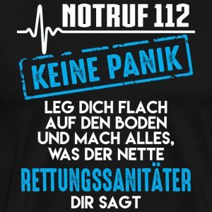 Paramedic, Emergency 112 not panic - Men's Premium T-Shirt