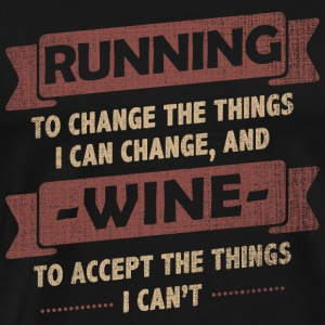 Funny Quotes > Running + Wine - Männer Premium T-Shirt