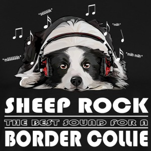 BORDER COLLIE SHEEP ROCK - Männer Premium T-Shirt