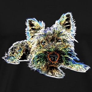 Dog Lovers> Colorful Yorkshire Terrier - Men's Premium T-Shirt