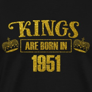 kings are born in 1951 - Geburtstag Koenig Gold - Männer Premium T-Shirt