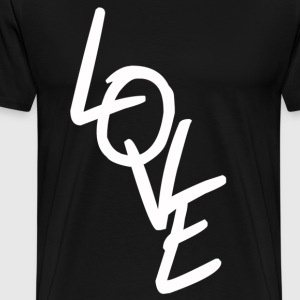LOVE white - Dance Shirt - Männer Premium T-Shirt