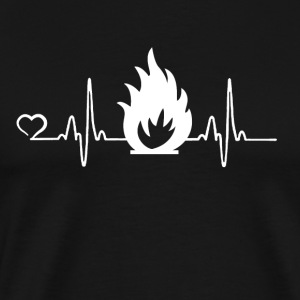 Fire Department - Heartbeat - Mannen Premium T-shirt
