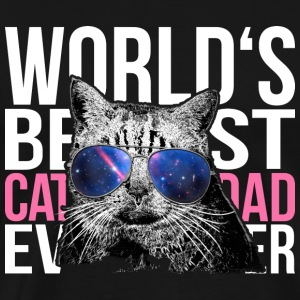 Cat Sunglasses > World's Best Cat Dad Ever - Männer Premium T-Shirt