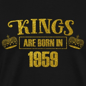 kings are born in 1959 - Geburtstag Koenig Gold - Männer Premium T-Shirt