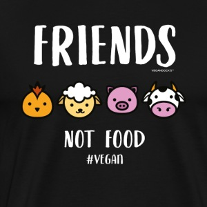Friends Not Food #VEGAN - Premium T-skjorte for menn