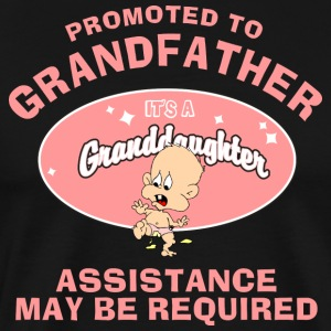 Promoted To Grandfather Granddaughter - Men's Premium T-Shirt