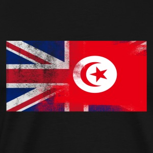 British Tunisian Half Tunisia Half UK Flag - Men's Premium T-Shirt