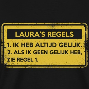 Lauras regler. Original gave. - Premium T-skjorte for menn