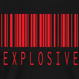 EXPLOSIVE BARCODE RED - Men's Premium T-Shirt