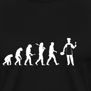 Evolution boss! Cook! Cook! Roligt! - Premium-T-shirt herr