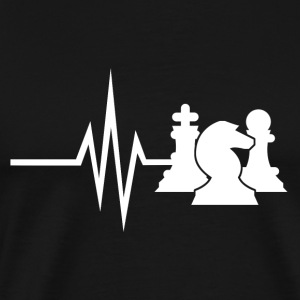 My heart beats for chess chessmatt strategy - Men's Premium T-Shirt