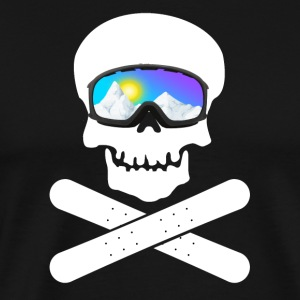 Skull with ski goggles (Snowboard Edition) - Men's Premium T-Shirt