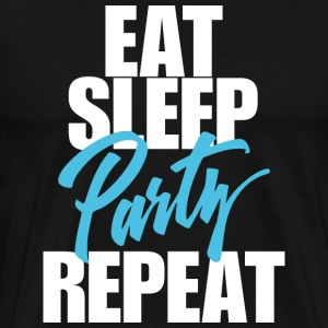 Eat Sleep Party - Miesten premium t-paita