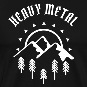Grappig Heavy Metal Shirt - Mannen Premium T-shirt