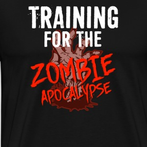 Training for the ZOMBIE APOCALYPSE T-Shirt - Männer Premium T-Shirt