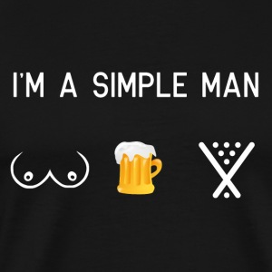 I am a simple man - boobs of billiards - Men's Premium T-Shirt