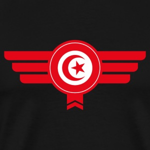 Tunisia emblem flag - Men's Premium T-Shirt