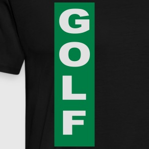 golf - Premium T-skjorte for menn