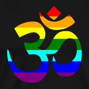 Rainbow Om sign - Premium-T-shirt herr