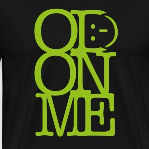 OD ON ME - Lime - Herre premium T-shirt