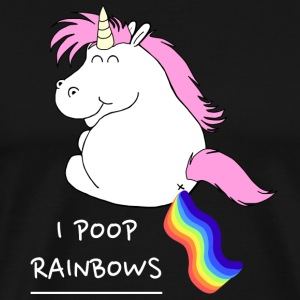 I POOP RAINBOWS UNICORN - Men's Premium T-Shirt