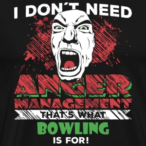 Anger Management - BOWLING - Premium T-skjorte for menn