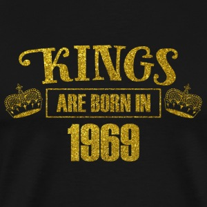 kings are born in 1969 - Geburtstag Koenig Gold - Männer Premium T-Shirt