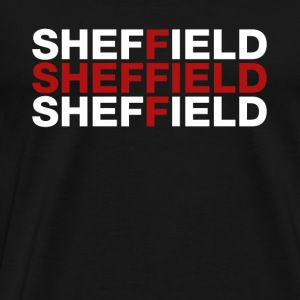Sheffield United Kingdom Flag Shirt - Sheffield - Herre premium T-shirt
