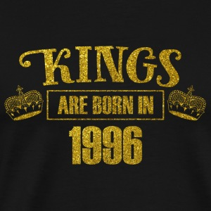 kings are born in 1996 - Geburtstag Koenig Gold - Männer Premium T-Shirt