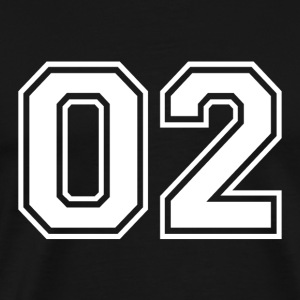 02 - College Style Sportswear and Numbers Motif - Men's Premium T-Shirt