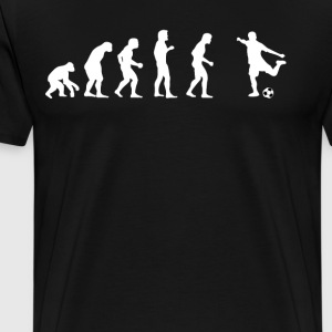 Human evolution football - Men's Premium T-Shirt