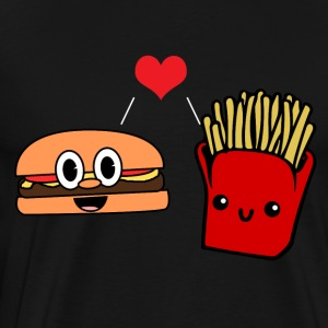 Burger Love Fries - Herre premium T-shirt