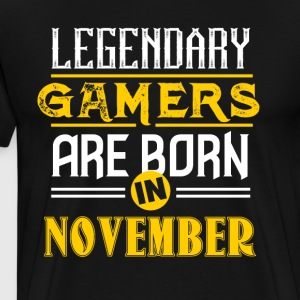Legendary Gamers föds i november - Premium-T-shirt herr