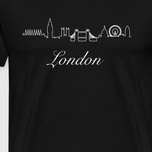 Londons silhuett disposition elegant design Fashion uk - Premium-T-shirt herr